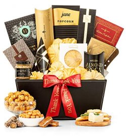 GiftTree Metropolitan Gourmet Thank You Gift Basket | Assorted Candy, Pistachios, Dried Pineappl ...
