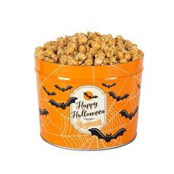 Popcornopolis Gourmet Popcorn 1.26 Gallon Caramel Tin (Halloween)