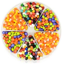 Halloween Candy Gift Tray 2 LBS – with Brach's Candy Corn, Jelly Belly and M&M&# ...