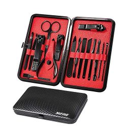 Mens Manicure Set – Mifine 16 In 1 Stainless Steel Professional Pedicure Kit Nail Scissors ...