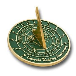 The Metal Foundry 55th Emerald Wedding Anniversary 2019 Sundial Gift Idea is A Great Present for ...