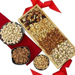 GreatArrivals Gift Baskets Gift Baskets Mendocino County Nuts: Gourmet Gift Crate,, ()