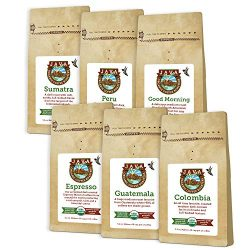Java Planet – Coffee Beans, Organic Coffee Sampler Pack, Whole Bean Variety Pack, Arabica  ...