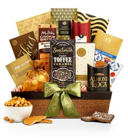 GiftTree Encore Gourmet Get Well Gift Basket | Assortments of Popcorn, Almond Roca, Honey Roaste ...