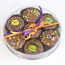 Olde Naples Halloween OREO Gift Basket, Chocolate Dipped Oreo Cookies, Hand decorated, 7 Oreo Co ...