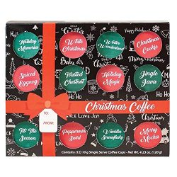 KCup Coffee Gift Box Set – Gourmet Christmas or Fall Flavored Coffee Assortment Sampler, B ...