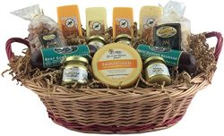 Meat Cheese and Nut Gift Baskets Summer Sausage Cashews Goulda Cheese