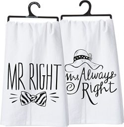 Primitives by Kathy 27007 LOL Made You Smile Double-Sided Dish Towel, 28″ x 28″, Mr. ...