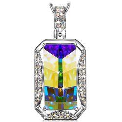 Kate Lynn Christmas Necklaces Gifts for Women Aurora Borealis Crystals from Swarovski Pendant Ne ...