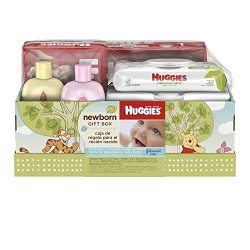 Huggies Newborn Gift Box – Little Snugglers Diapers (Size Newborn 24 Ct & Size 1 32 Ct ...