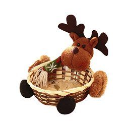 Fine Christmas Storage Basket,Child Kids Christmas Candy Jar Candy Storage Basket Decoration San ...