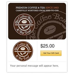 The Coffee Bean & Tea Leaf Castle Gift Cards – E-mail Delivery