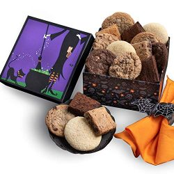 Halloween Gift Basket – Witch's Kitchen Baked Goods Gift – Cookies and Brownie ...