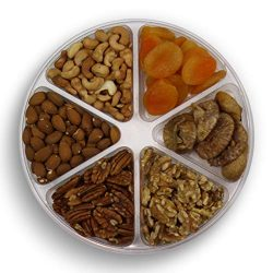 Gourmet Nuts Gift Baskets 6-Mixed Sectional Healthy Fresh Gift Idea For Christmas, Thanksgiving, ...