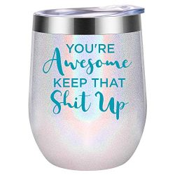 You're Awesome Keep That Up – Funny Thank you Gifts – Boss, Coworkers, Employe ...