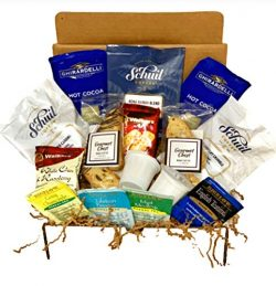 Coffee Gift Box, Biscotti, Shortbread Cookies, Hot Cocoa and Tea Set