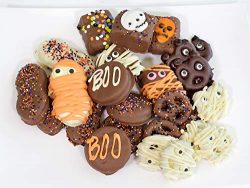 Olde Naples Chocolate Halloween Party Favor, Chocolate Dipped Cookies Assortment, Handmade Gift  ...