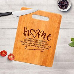 Housewarming Gift – Engraved Cutting Board – Realtor Closing Gift – New Home Gift