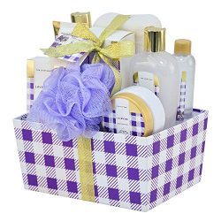 Spa Luxetique Bath Spa Gift Basket Lavender Fragrance, Premium 10pc Gift Baskets for Women, Home ...