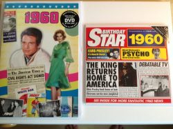 1960 Birthday Gifts Set – 1960 DVD Film , 1960 Chart Hits CD and 1960 Birthday Card