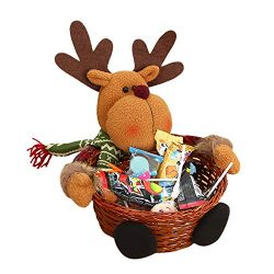 Armfer-household supply Christmas Candy Gift Basket Lovely Santa Snowman Deer Goody Storage Xmas ...