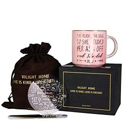 Vilight 2019 Congratulations and Graduation Gifts for Her – She Believed she could So She  ...