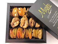 Mughe Premium Gourmet Holiday Nuts & Dried Fruit Gift Basket 12 Oz, Healthy Snacks, Great fo ...