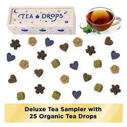 Sweetened Organic Loose Leaf Tea | Deluxe Herbal Sampler Assortment Box | Instant Pressed Teas E ...
