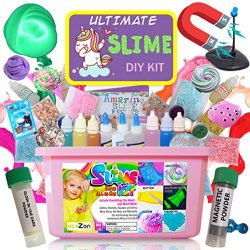 Ultimate Unicorn Slime Kit for Girls – Best Value Unicorn DIY Slime Supplies Kits for Maki ...