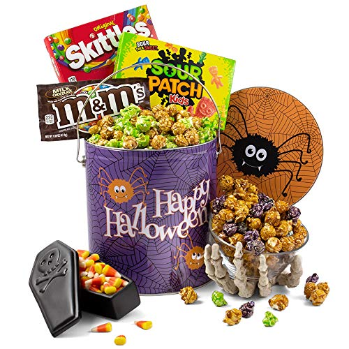 Spooky Snack Tin of Halloween Candy and Halloween Popcorn – Halloween Gifts for Kids, Adul ...