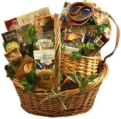 Fishing Gift Basket with Deluxe Fishing Creel – A Gift Basket for the Fishermen in Your Life