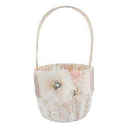 Customoffi Modern Basket – Best for Flower Girl Basket and Bridal Shower Gift for Weddings ...