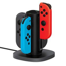 Nintendo Switch Joy Con Charging Dock by TalkWorks | Docking Station Charges up to 4 Joy-Con Con ...