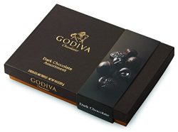 Godiva Chocolatier Assorted Dark Chocolate Gift Box, Great for Gifting, Chocolate Candy, Chocola ...