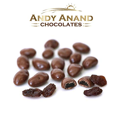 Andy Anand Milk Chocolate Raisins Sugar Free, Gift Boxed & Greeting Card, Delicious, Succule ...