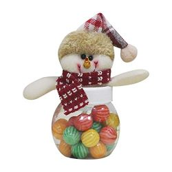 Iusun Christmas Candy Storage Pentagram Fabric Doll Container Box Snowman Elk Santa Claus Decora ...