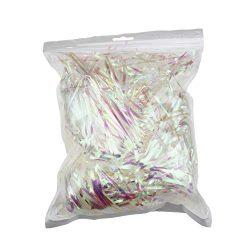 200 Grams Sparkly Iridescent Film PP Hamper Shreds & Strands Shredded Crinkle Confetti for D ...