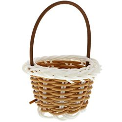 Juvale 24-Pack Mini Woven Baskets with Handles, for Party Favors, Crafts, and Decor, 2.5 x 3 Inches