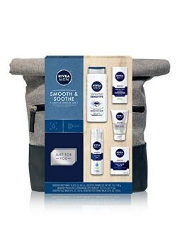 NIVEA Men Dapper Duffel Gift Set – 5 Piece Collection Of On-The-Go Grooming Needs with Tra ...