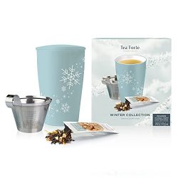 Tea Forte Loose Tea Starter Set, Holiday Gift Set with Kati Cup Infuser Steeping Cup and Box of  ...