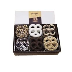 Pretzel Plate Gourmet Chocolates Perfect for Corporate Gift, Thanksgiving, Holiday, Fathers Day, ...