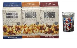 Harry & David 3 Flavor Moose Munch Variety Bundle W/ Bonus M&M's