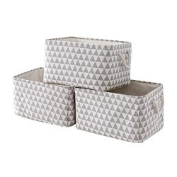 Fabric Storage Baskets[3-Pack] Storage Bins Baskets for Organizing Empty Gift Baskets Fabric Bas ...
