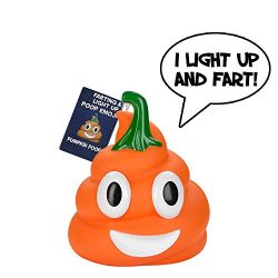 Halloween Pumpkin Poop Emoji – Lights Up and Farts – Great Halloween Toys for Kids & ...
