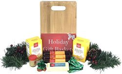 Hickory Farms Gift Basket and Bamboo Cutting Board Gift Set – Ultimate Christmas Edition w ...