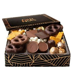 Oh! Nuts Christmas Gourmet Chocolate Candy Gift Box, Holiday Tins Basket Toffee Brittle Covered  ...