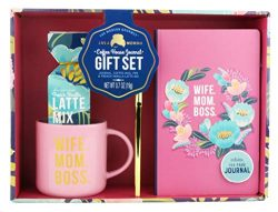 Thoughtfully Gifts, Mother's Coffee House Journal Set, Includes Cute Mug, French Vanilla L ...
