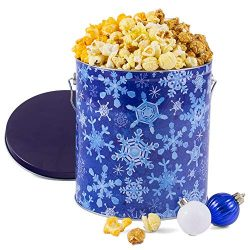 GourmetGiftBaskets.com Winter Wonderland Popcorn Tin (People's Choice Mix)