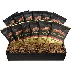 Door County Coffee, Chocolate & Caramel Flavored Coffee, 12-Pack Gift Set