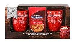 Ghirardelli Cocoa for Two Gift Set | Contains 2 Ceramic Mugs (12 oz.), Ghirardelli Double Hot Ch ...